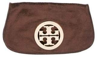 Tory Burch Metallic Grained Leather Jamie Clutch