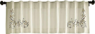 CHF Scroll Leaf Rod-Pocket Tailored Valance
