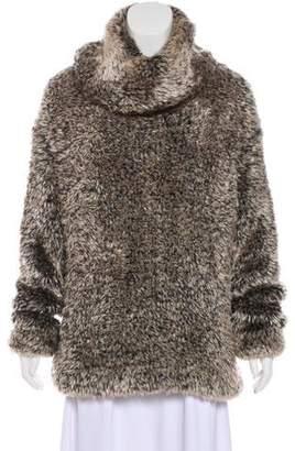 Alaia Fuzzy Knit Sweater