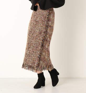 Archives (アルシーヴ) - アルシーヴ a-ラップ風ツイードタイトスカート