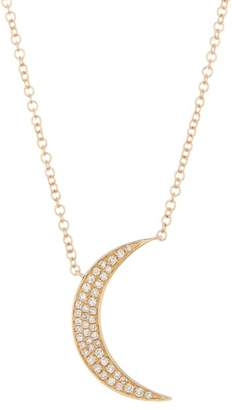 Ef Collection 14K Yellow Gold Diamond Crescent Pendant Necklace - 0.45 ctw