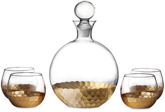 One Kings Lane 5-Pc Luster Decanter Set - Gold