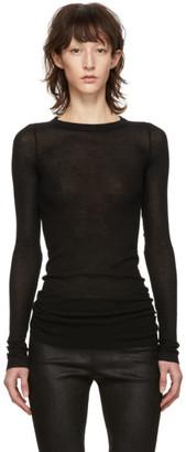 Rick Owens Black Rib Long Sleeve T-Shirt