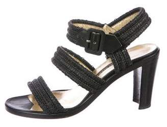 Walter Steiger Raffia Slingback Sandals