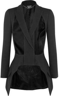 Alexander McQueen - Cutout Wool And Silk-blend Blazer - Black $2,795 thestylecure.com