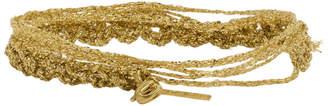 Acne Studios Gold Braid Bracelet