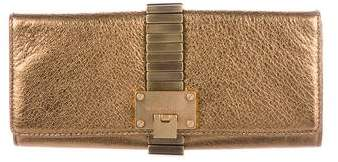 Michael Kors Metallic Hadley Clutch - GOLD - STYLE