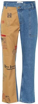 Monse Straight-leg cropped jeans
