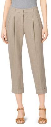 Michael Kors Hemp Linen Capri Trousers