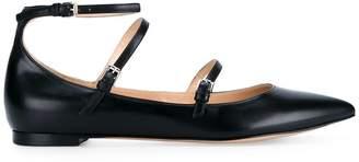 Gianvito Rossi strap detail ballerina shoes