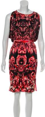 Jean Paul Gaultier Printed Cold-Shoulder Dress Red Printed Cold-Shoulder Dress