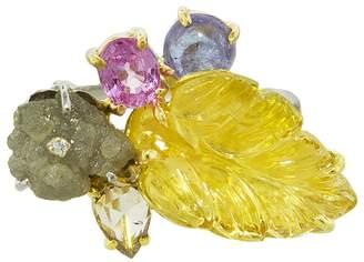 Sharon Khazzam Norma Leaf Ring - Yellow Gold
