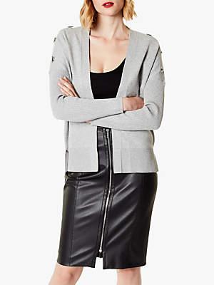 Karen Millen Open Front Cardigan, Grey