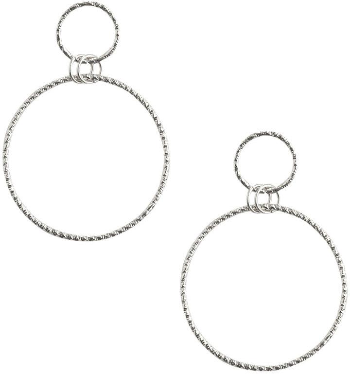 Double Hoop Drop Earring