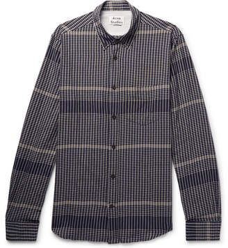 Acne Studios Isherwood Slim-Fit Checked Stretch-Cotton Shirt