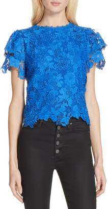 Alice + Olivia Glady Lace Crop Blouse