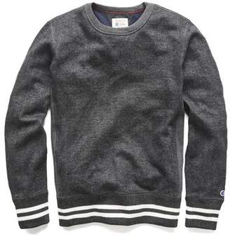 Todd Snyder + Champion Champion Wool Herringbone Crewneck in Charcoal