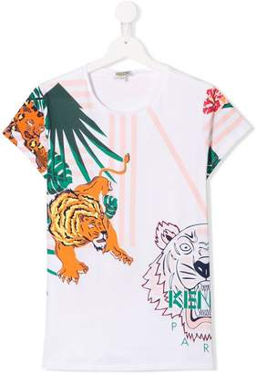 Kenzo Tiger Jungle print T-shirt