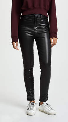 A Gold E AGOLDE Roxanne Leatherette Skinny Jeans