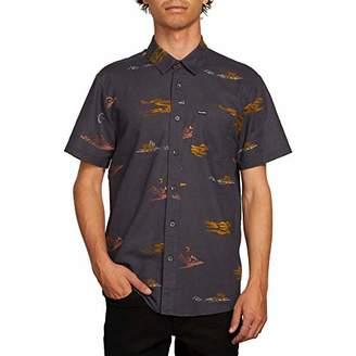 Volcom Mens Sub Phase Button Up Short Sleeve Shirt