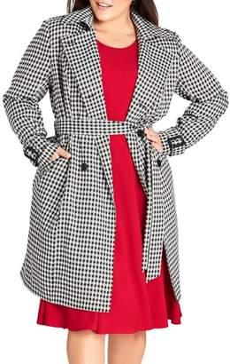 City Chic Sherlock Trench Coat