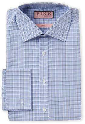 Thomas Pink Lancaster Check Classic Fit French Cuff Dress Shirt
