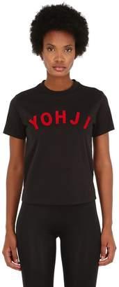 Y-3 Y 3 Yohji Letters Cotton Jersey T-Shirt