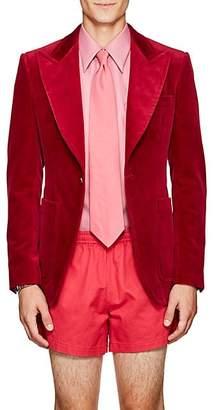 Gucci Men's Cotton Velvet One-Button Sportcoat - Md. Pink