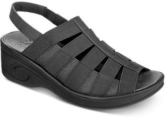 bdbfb4b60540 Easy Street Shoes Black Strappy Women s Sandals - ShopStyle