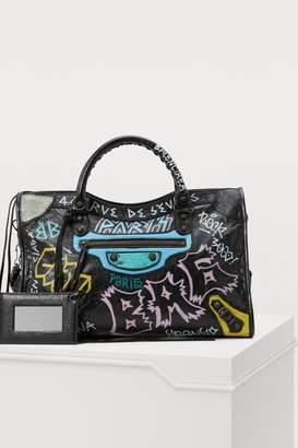 Balenciaga City graffiti handbag
