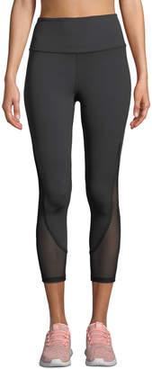 Kate Spade micro-mesh cropped active leggings