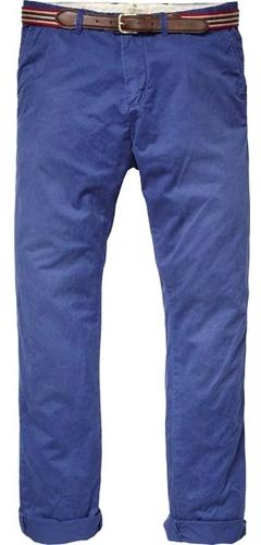 Scotch & Soda Men's Basic Pima Cotton Pant - Indigo