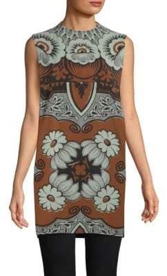 Valentino Tapestry-Print Silk Smock