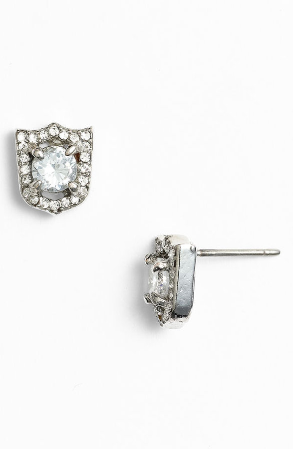 Juicy Couture 'Key to the Castle' Shield Stud Earrings