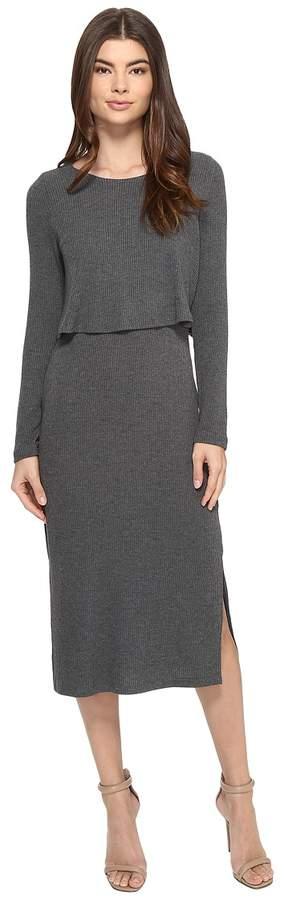 Brigitte Bailey Gennifer Long Sleeve Knit Midi Dress