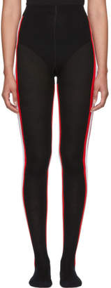 Calvin Klein Black Intarsia Striped Tights