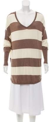 Joie V-Neck Striped Sweater