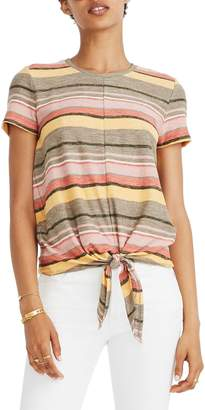 Madewell Texture & Thread Modern Tie-Front Top