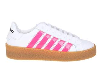 DSQUARED2 Sneakers Rappers Delight Color White / Fuchsia