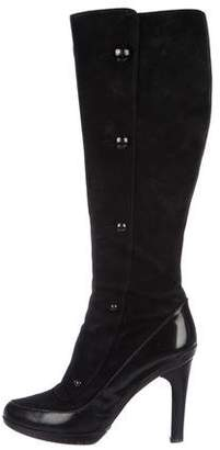 Fendi Suede Knee-High Boots