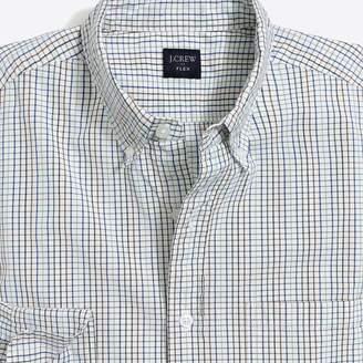 J.Crew Tall slim-fit flex washed shirt in mini tattersall