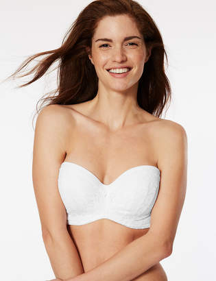 Marks and Spencer Cool Comfort Cotton Blend Padded Strapless Bra A-E