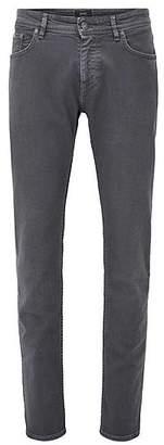 HUGO BOSS Slim-fit jeans in comfort-coloured denim