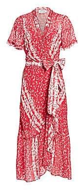 Tanya Taylor Women's Blaire Printed Asymmetric Wrap Dress - Size 0