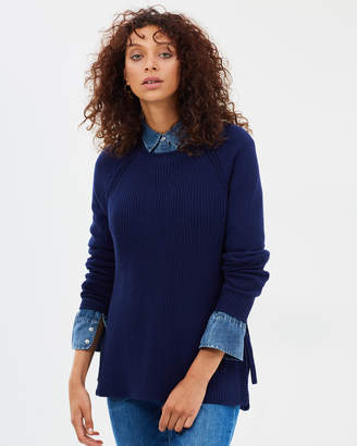 J.Crew Side Tie Crew-Neck Sweater
