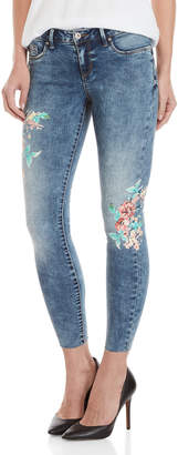Jessica Simpson Floral Kiss Me Ankle Skinny Jeans