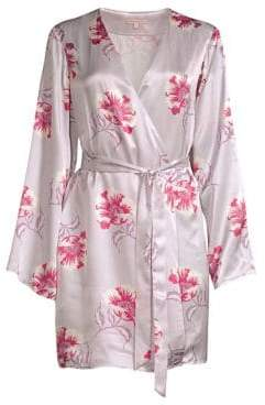 Morgan Lane Langley Floral Silk Robe
