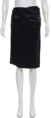 Bottega Veneta Silk Knee-Length Skirt