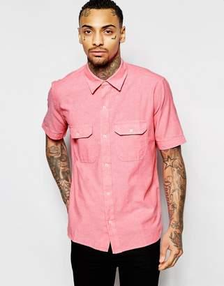 American Apparel Short Sleeve Chambray Shirt In Regular Fit