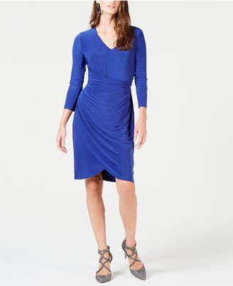 INC International Concepts I.n.c. Ruched 3/4-Sleeve Dress